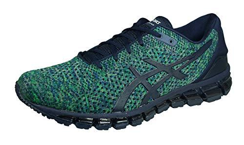 Asics Gel-Quantum 360 Knit 2, Zapatillas de Running Hombre, Multicolor (Peacoat/Green/White 5884), 46.5 EU