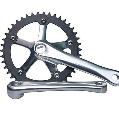 GANOPPER 42T Fixed Gear Bike Crankset 165mm 130 BCD Fixie Bike Crank Arm Set Single Speed Conversion Kit Road Track Bicycle Crankarm
