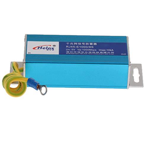 P Prettyia 1000 Mbit/S Netzwerk RJ45 Ethernet LAN Überspannungsschutz Für Blitzableiter