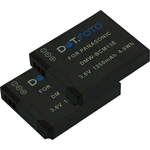 2 x Panasonic DMW-BCM13, DMW-BCM13E PREMIUM Dot.Foto Batería de Reemplazo - 3.6V/1250mAh - Garantía de 2 años [Vea compatibilidad en la descripción]