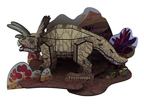 3D立体パズル DIY 恐竜モデル 組み立てる リエイティブ おもちゃ 子供プレゼント