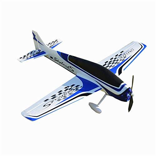 Nobrannd Aviones de Control Remoto 950mm Envergadura EPO Entrenador acrobático 3D Aviones Avión RC Kit for Principiantes Opcionales para niños Adultos Regalos (Color : Blue, Size : Kit)