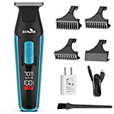 Eunon Mens Hair Clippers Cordless - T-Outliner Professional At Home Hair Trimmer Bear Trimmer Hair Cutting Machine Haircut Tools Grooming Kit for Men Rechargeable, Dual Voltage