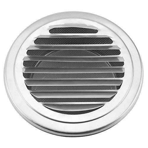MAGT ventilatiedeksel, roestvrij staal, ronde ventilator, roestvrij, praktisch rond ontluchtingsdeksel met platte kop voor de ventilatie van badkamer in de keuken