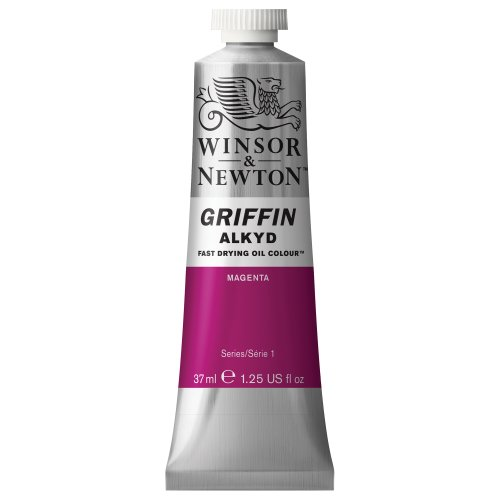Winsor & Newton Griffin Alkyd - Tubo óleo de secado rápido, 37 ml, color magenta