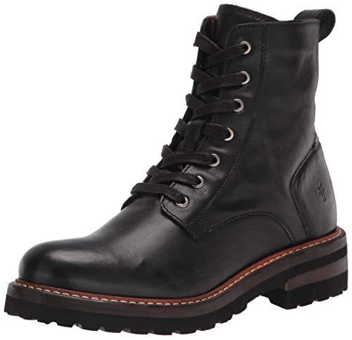 Frye Women's Ella Moto Lace Ankle Boot, Black, 10