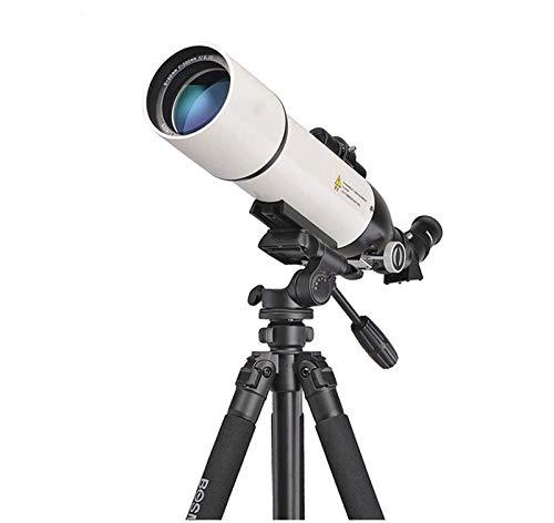 SHKUU Telescopio National Geographic, telescopio Refractor astronómico de Longitud Focal de 500 mm, visión Nocturna con Poca luz Resistente al Agua HD, para observar la Luna y el Paisaje, con Mochila