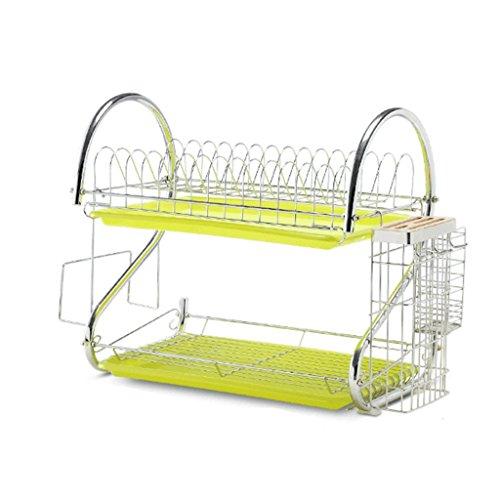 LBYMYB Suministros, equipo, lavado, drenaje, platos, platos, palillos, cuchillo, caja de almacenamiento, estante de almacenamiento para cocina (color verde)