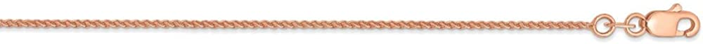 14k Rose Gold 1mm Solid Spiga Chain Necklace, 30