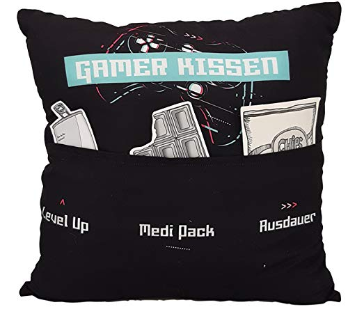 Kissen aus Stoff Sofahelden Gamer Kissen mit Taschen und Deko