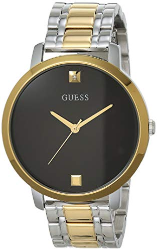 GUESS Women's Analog Watch with Stainless Steel Strap, Multicolor, 17.9 (Model: GW0073L1)