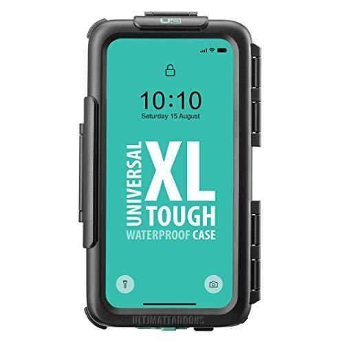 Universal Smartphone Slim Tough XL (158 x 78 mm) wasserdichte Hülle mit Verstärker 4-Loch-Anschlussplatte V2
