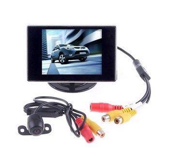 'BW® 3,5 LCD Moniteur vidéo de vision arrière de recul pour voiture et HD Caméra de basse lumière