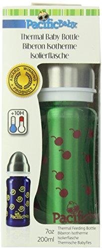 Pacific Baby Termo - Biberón 3 en uno, 200 ml, color verde
