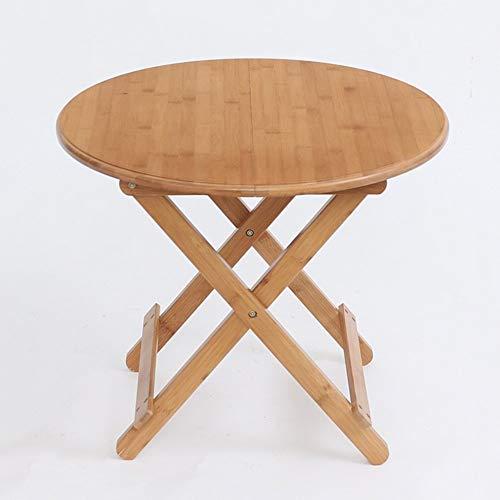 Klapptisch Verstellbarer runder Tisch/mobiler Computertisch/tragbarer Esstisch/Aufbewahrungstisch für zu Hause kann gedreht Werden (Größe: 90 * 90 * 75CM)
