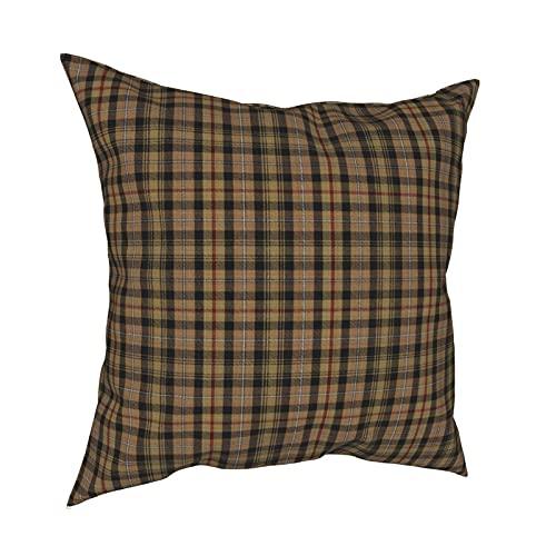 Reebos Funda de almohada decorativa de 45,7 x 45,7 cm, diseño vintage de cuadros de caza Mackenzie Tartan Plaid funda de cojín para sofá, silla, dormitorios