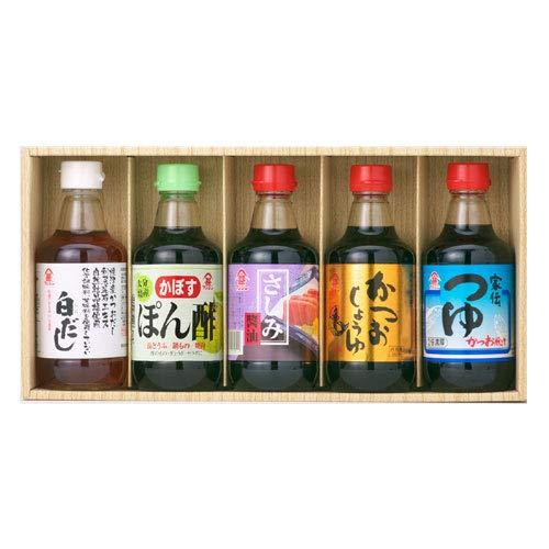 富士甚醤油 フジジン 味いつつセット (白だし・ポン酢・さしみ醤油・かつお醤油・家伝つゆ)