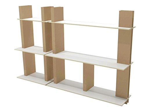 FunnyPaper(ファニーペーパー) Display Rack 段ボールディスプレーラック2個セット 80×45×高さ160cm & 160×45×高さ160cm CEDI_201