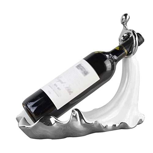 NXYJD Decoración de la decoración del Restaurante Estante del Vino, práctico Holder Europea de la Sala cáliz Estante del Vino del hogar