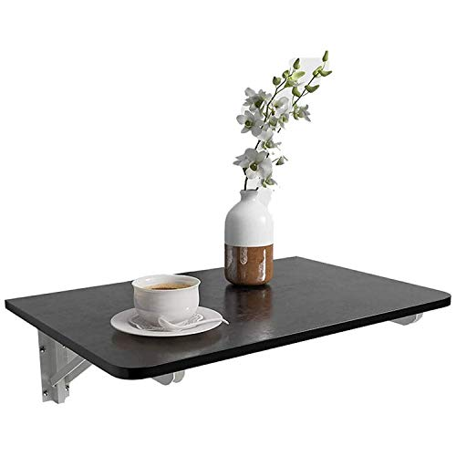 LUCKYY White Folding Wooden Wall-Mounted Drop-Leaf Table,Foldable Computer Desk、Dining Table、 Wood Desk for Small Space Fold Away Writing Desk