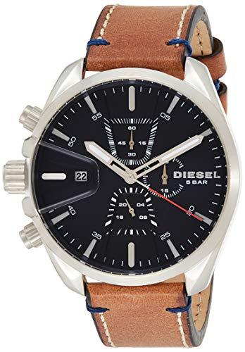 Diesel Herren Chronograph Quarz Uhr mit Leder Armband DZ4470