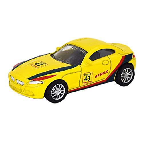 Modelo de Coches, 1:43 Coches Modelo de simulación de aleación de Metal Fundido de Coches de Juguete Adornos de joyería Colección De 10x4.5x3.2cm (Color : Yellow)