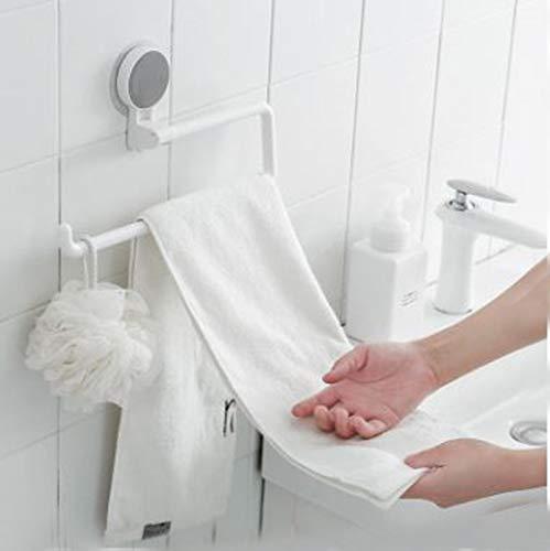 Zeerkeer - Porta rotolo di carta igienica con ventosa, girevole, impermeabile, montaggio a parete, per cucina, bagno, WC – cromato