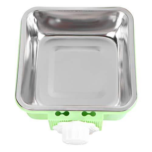 POPETPOP ペットボウル ハンガー ゲージ用 ペット食器 餌入れ ヘルスウォーターボウル 猫 犬 うさぎ 小動物用 食器 固定