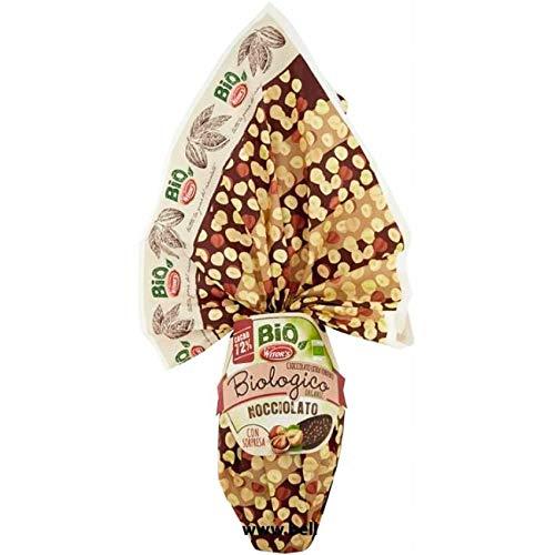Uovo DI Pasqua Bio Nocciolato Witor's 240gr Uovo di Cioccolato Biologico 72% Cacao