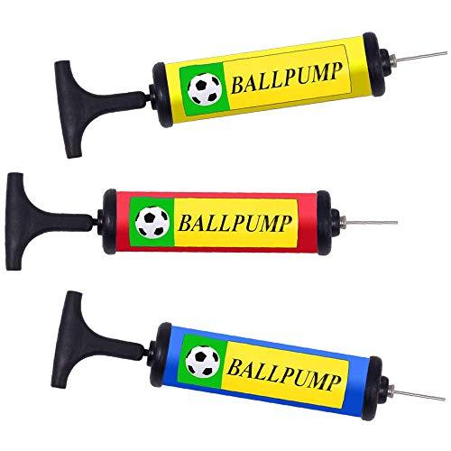 German Trendseller® Ballpumpe - mit Nadelventil┃ Hand Pumpe┃Luftpumpe ┃einfaches Bälle Aufpumpen