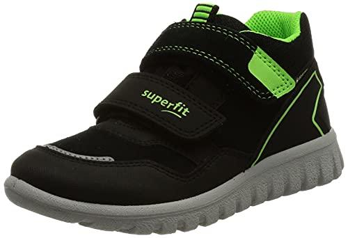 Superfit Sport7 Mini, Zapatillas para Aprender a Andar, Negro y Verde 0000, 23 EU
