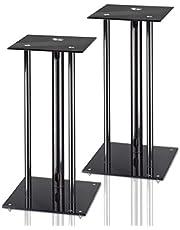 Hama 49813 - Pack de soportes para altavoces, negro