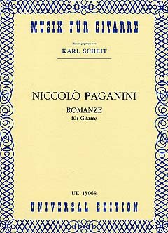 ROMANZE - arrangiert für Gitarre [Noten/Sheetmusic] Komponist : PAGANINI NICCOLO