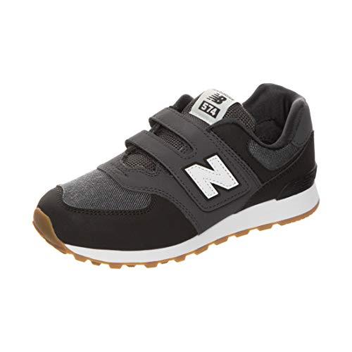 New Balance Unisex-Child YV574DMK_32 Sneakers, Black, EU