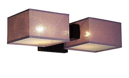 Lampe murale wero Applique Applique murale design lampe 012 A Bois Chêne massif plastique barsa chirme Violet/transparent