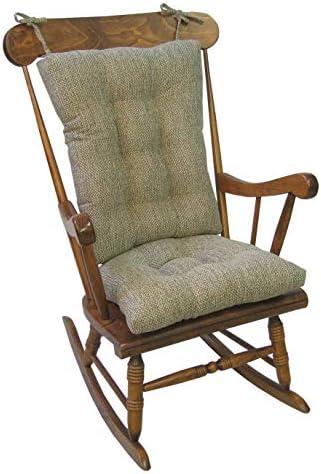 Best Klear Vu Tyson XL Gripper Non-Slip Extra Large Overstuffed Rocking Chair Pad Set, 17