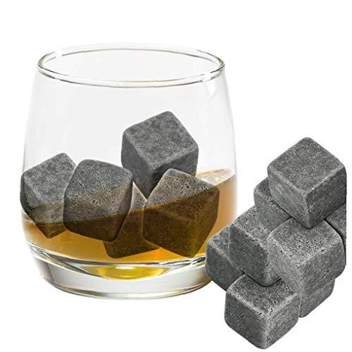 Romote 8pcs Whisky-Steine ??umweltfreundlicher Granit Eiswürfel Whisky-Steine ??Eiswürfel Rock Handcrafted Granit Getränke Chilling Cubes - 5