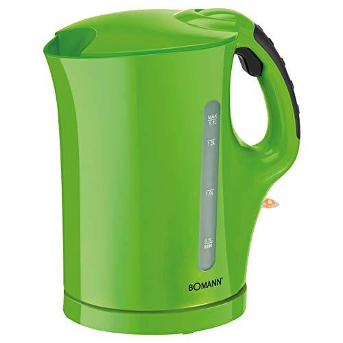 Kabelloser Wasserkocher Starke 2000 Watt 1,7 Liter (Kabellos, Edelstahl-Heizelement, Kalkfilter, Wasserstandsanzeige, Grün)