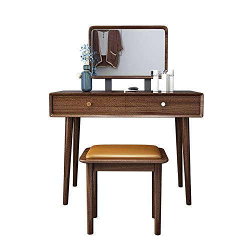 Affordable Dressing Table A Wooden Bench with Mirror Dresser Drawer 2 Bedroom Suite Cosmetic Dresser...