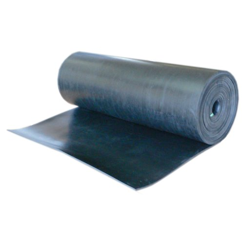 """Rubber-Cal Nitrile - Commercial Grade Black - 60A Rubber Sheet - Buna Rubber - 1/4"""" Thick x 3ft Width x 8ft Length"""