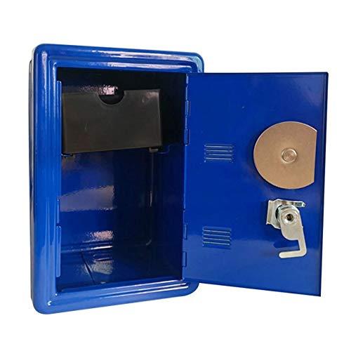 GJRFYJ Slip Monedas Caja de Ahorro de Dinero en Efectivo for no Mini ATM Piggy Banco de contraseñas Regalos Inicio Ornamento de Seguridad Caja Fuerte de Metal con Llave de Almacenamiento