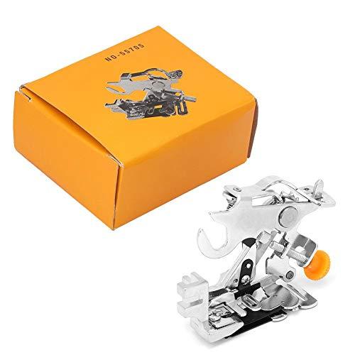 55075 Máquina de coser de pie de prensatelas de ruffler de casa Máquina de coser de prensatelas de pie bajo Prensatelas de pie bajo con cilindro de bloqueo(Amarillo)