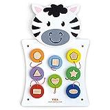 VIGAtoys- Viga Toys - Juego de Pared, diseño de Cebra (50681)