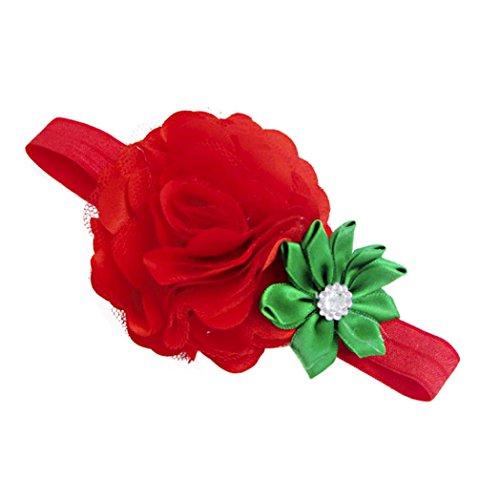 FAMILIZO Diademas Navidad, Bebé Niñas Flor Diademas Y Cintas De Pelo Accesorios De La Boda Sombreros Para Bebé...
