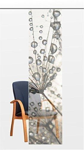 Flächenvorhang Dream Silver - Voile feingewebt - Transparente Schiebegardine Gr.60x245 cm