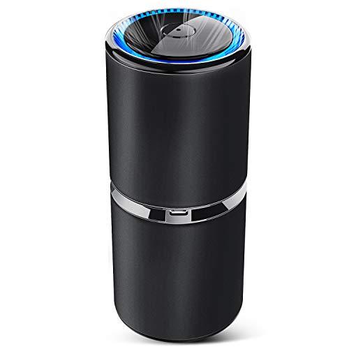 空気清浄器 小型空気清浄機 車載空気清浄機 イオン発生器 花粉対策 車内消臭 プラズマクラスター USBポート...