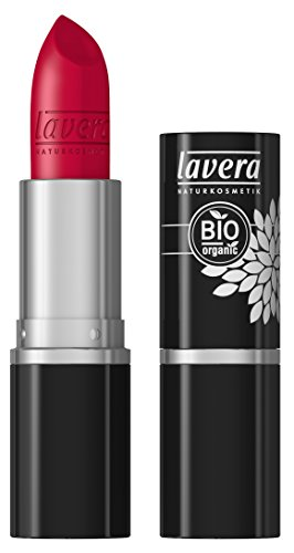 lavera Lippenstift Beautiful Lips Colour Intense ∙ Farbe Timeless Red rot ∙ zart & cremig ∙ Natural & innovative Make up ✔ Bio Pflanzenwirkstoffe ∙ Lipstick ∙ Naturkosmetik 1er Pack (1 x 5 g)