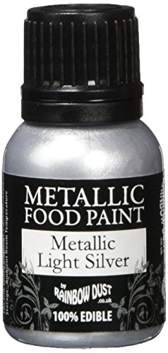 Rainbow Dust Metallic-Lebensmittelfarbe Silver Light, 1er Pack (1 x 25 ml)