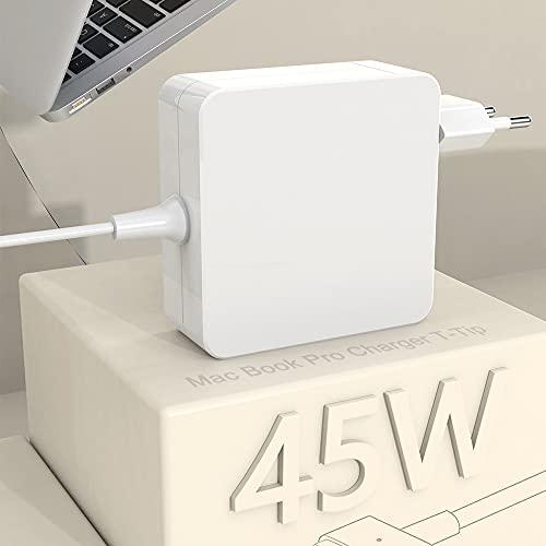 Compatible con Cargador Mac Book Air Conector de Punta en T de 45W, Fuente de alimentación Mac Book para Mac Book Air de 11 y 13 Pulgadas (Desde Mediados de 2012)