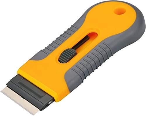 raschietto piano induzione Vetroceramica con 15 lame di alta qualità,raschietto per piano cottura ergonomico ,rimuove lo sporco ostinato dal piano cottura